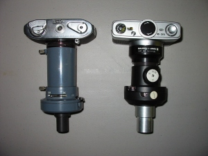 Two varieties of integrated photomicrographic apparatus.