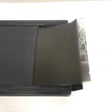 Negative showing properly loaded 4x5 holder