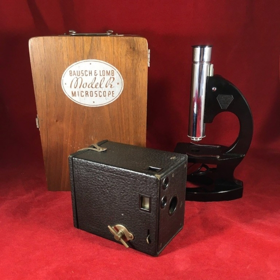B&L Model R and Eastman Kodak Brownie No. 0