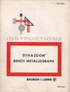 B&L Bench Metallograph manual thumb