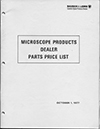 Microscope Products Dealer Parts Price List